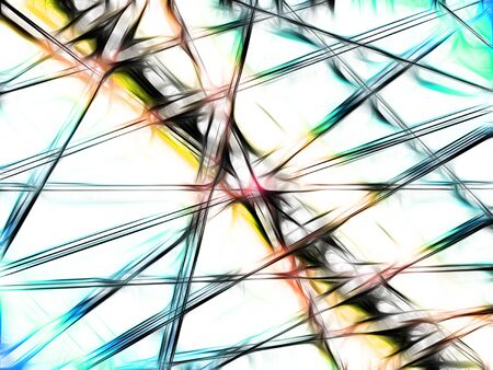 chaotic lines, abstract multicolored lines background, design concept.