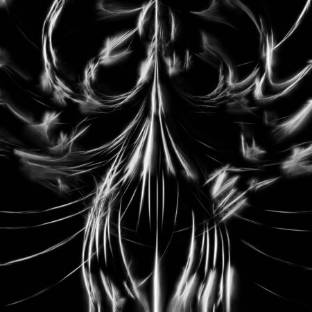 a picture with a magical Gothic fantasy theme. glowing lines create a sense of fear, horror, magic.