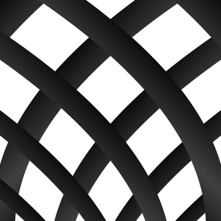 Grating, lattice pattern. Abstract mosaic grid, mesh background with square shapes. Black and white design element. Simple vector illustration for your design. Vector Illustration