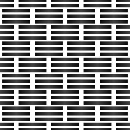 Grating, lattice pattern. Abstract mosaic grid, mesh background with square shapes. Black and white design element. Simple vector illustration for your design.