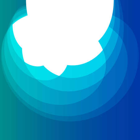 Abstract Design Creativity Background of Blue Waves, Vector Illustration EPS10