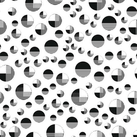 Geometric pattern with circles, stripe. Pattern for fashion and wallpaper. Vector illustration.