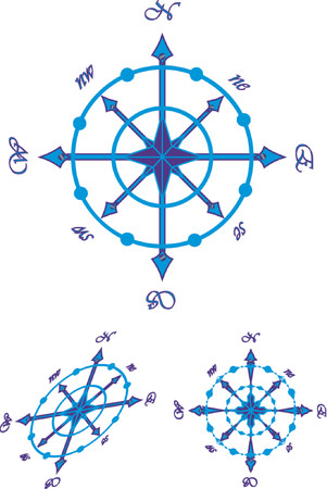 navigating: Navigating sea compass. The vector image.
