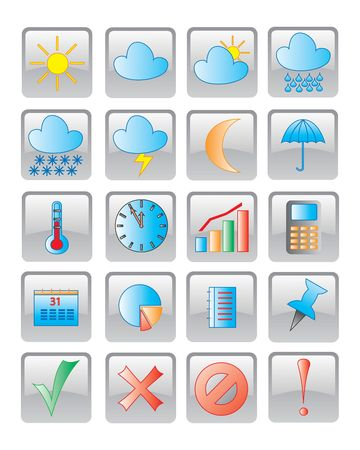 buttom: the web icon. vector image. 20 buttom.