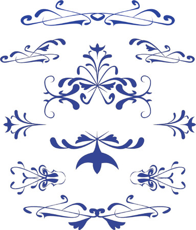 aristocratically: Vector pattern on a white background
