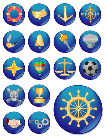 buttom: The web icon. vector image. 17 buttom.