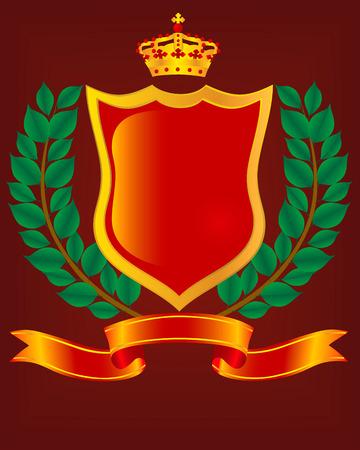 armory: Heraldic escutcheon. The vector image.
