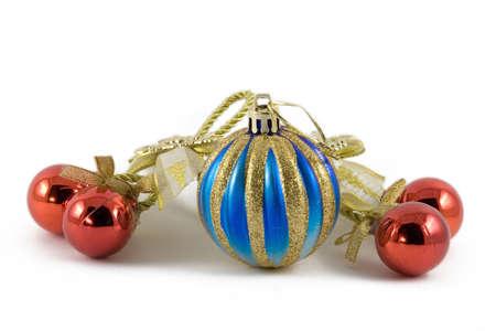 Five christmas spheres photo