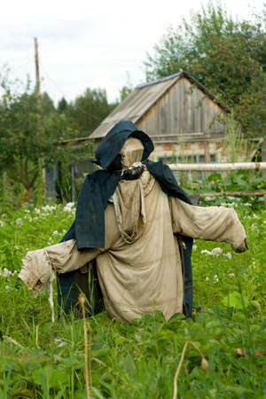 Garden scarecrow for scaring away of birds Stock Photo - 1304045