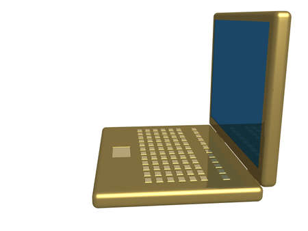 the isolated 3d image of a laptop. photo