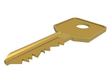 Key. Isolated 3D object. Stock Photo - 1351795