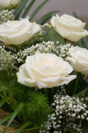 Wedding bouquet of white roses Stock Photo - 1440954