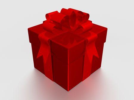 Gift box. 3D image. Stock Photo - 1998362