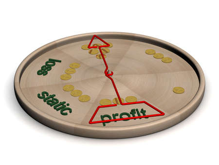 financial condition: Disk with instructions of a financial condition. 3D image. Stock Photo
