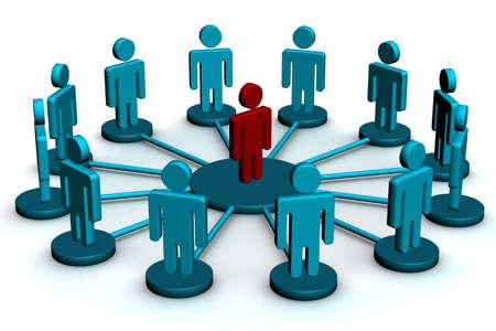 partners: Conceptual image of teamwork. 3D image.