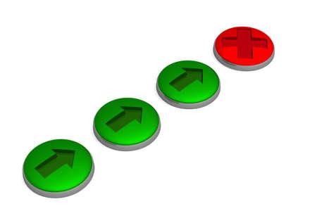 Set of buttons. 3D image. photo