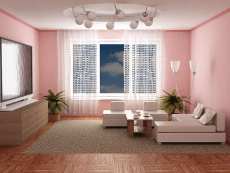 Inter of a room of rest. 3D image Stock Photo - 3025007