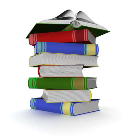 Pile of books. 3D the isolated image. Stock Photo - 3062777