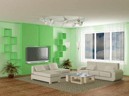 quiet room: Interior of a room of rest. 3D image