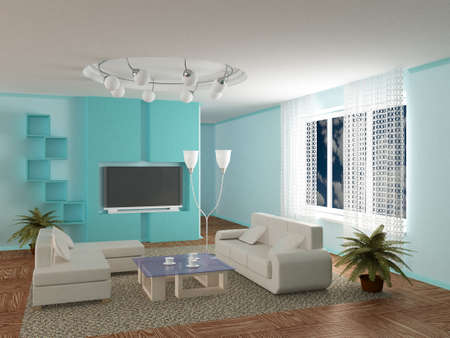 Interior of a room of rest. 3D image  Stock Photo
