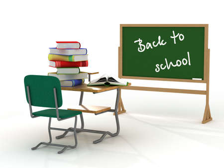 School inter. Back to school. 3D image.  Stock Photo - 3383501