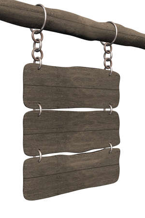 strip structure: Old board hanging on a circuit. 3D image. Stock Photo
