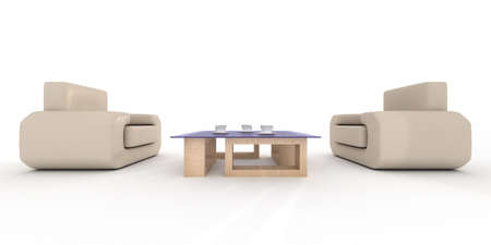 Inter of a living room. 3D image. Stock Photo - 3443618