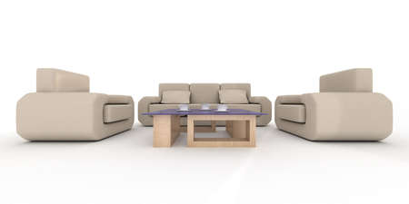 Inter of a living room. 3D image. Stock Photo - 3443620