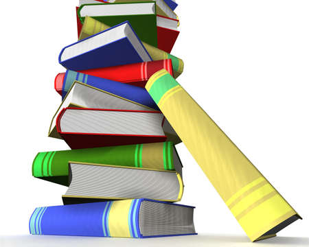 Pile of books. 3D the isolated image. Stock Photo - 3443624