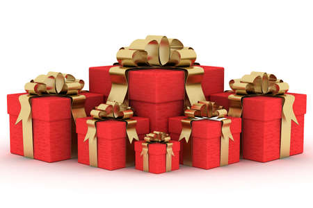 Gift boxs. 3D image. Stock Photo - 3498072