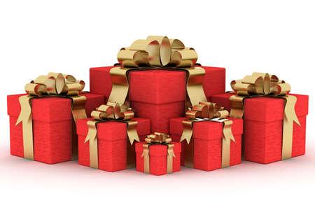Gift boxs. 3D image. Stock Photo - 3498072