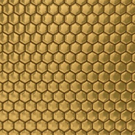 honeyed: Comb honey. 3D image. Illustrations Stock Photo