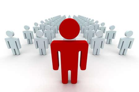 Conceptual image of teamwork. 3D image. Stock Photo - 3683821