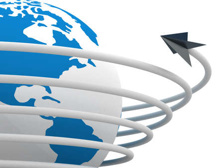 Global communication in the world. 3D image. Stock Photo - 3711643