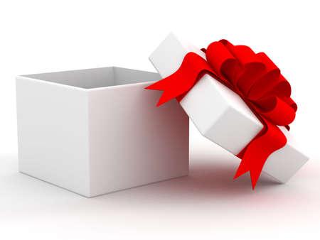 wraps: Blanco caja de regalo. Imagen en 3D.