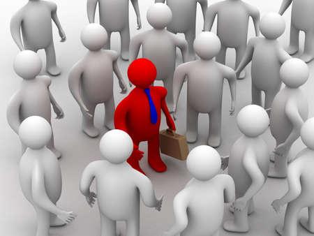 Conceptual image of teamwork. 3D image. Stock Photo - 3795152