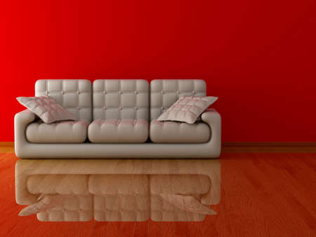 matters: Interior of a living room. 3D image.
