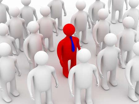 Conceptual image of teamwork. 3D image. Stock Photo - 3836702