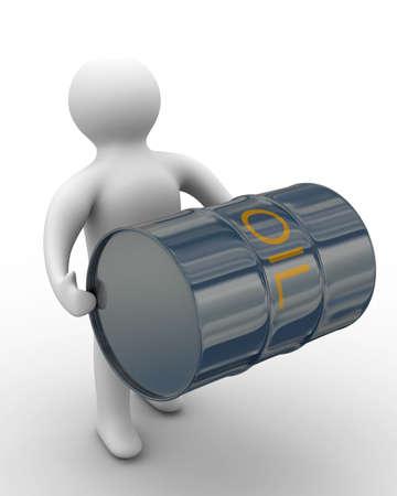 traslados: cargador de las transferencias de petr�leo a un flanco. Imagen en 3D.