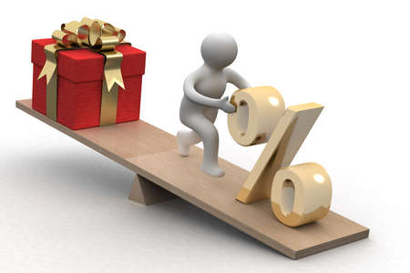 Discounts for gifts. Isolated 3D image Stock Photo - 3959896