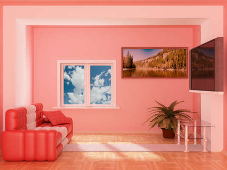 living room design: Interior of a living room. 3D image.
