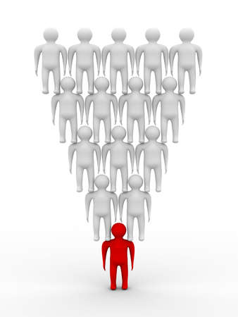 Conceptual image of teamwork. 3D image. photo