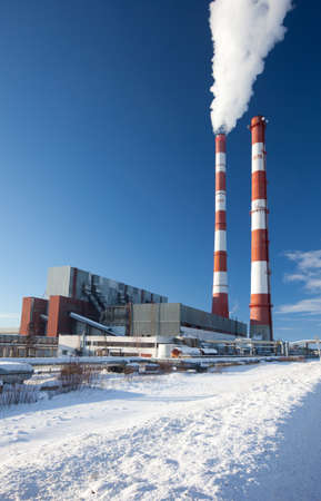 Power station. Industrial production. photo