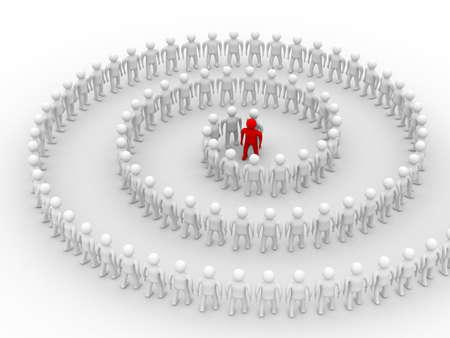 Conceptual image of teamwork. 3D image. Stock Photo - 4227389