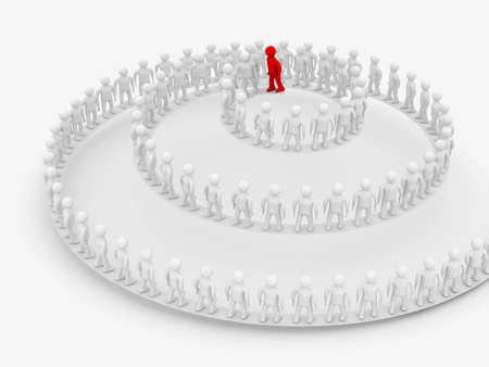 Conceptual image of teamwork. 3D image. Stock Photo - 4322281