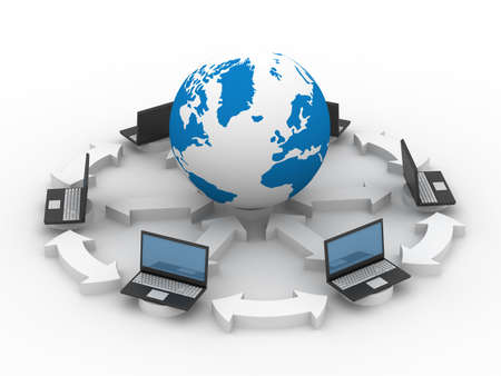 Global network the Internet. Isolated 3D image. photo
