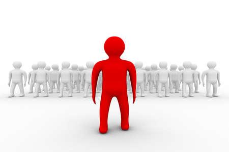 Conceptual image of teamwork. 3D image. Stock Photo - 4477891