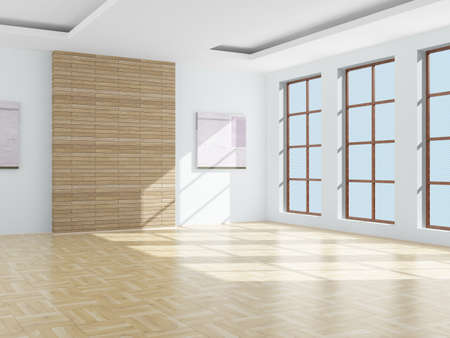Empty room. 3D image photo