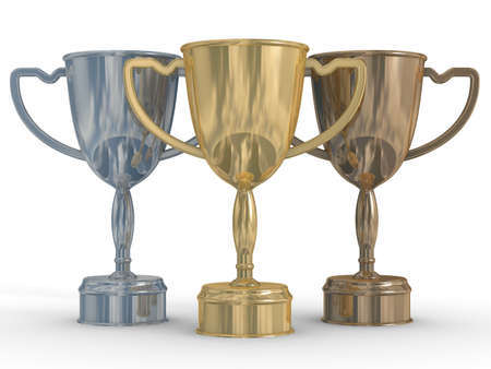 cups of the winner. the 3D  image photo