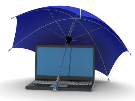 Protected global network the Internet. 3D image. Stock Photo - 4660622